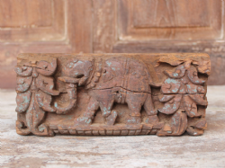 19th Century Architectural Carving of an Elephant, Rajasthan <b>SOLD<b>